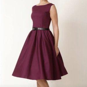 LINDY BOP Burgundy Audrey Dress
